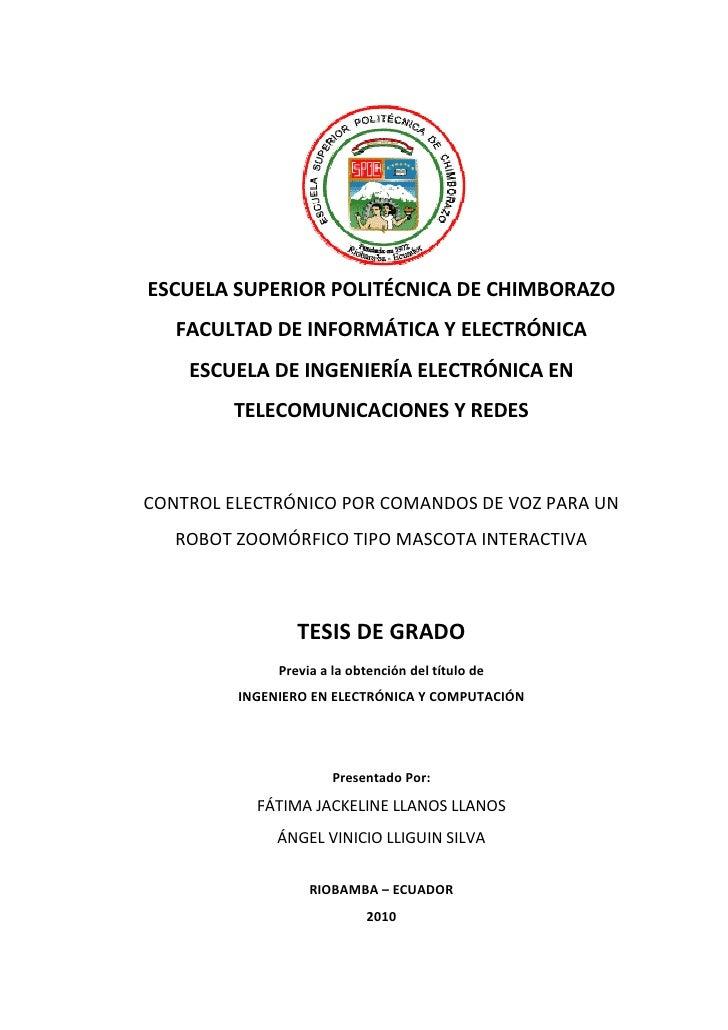 -1-ESCUELA SUPERIOR POLITÉCNICA DE CHIMBORAZO   FACULTAD DE INFORMÁTICA Y ELECTRÓNICA    ESCUELA DE INGENIERÍA ELECTRÓNICA...
