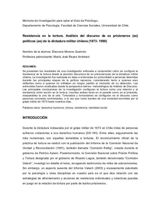 Memoria de Investigación para optar al título de Psicólogo. Departamento de Psicología, Facultad de Ciencias Sociales, Uni...