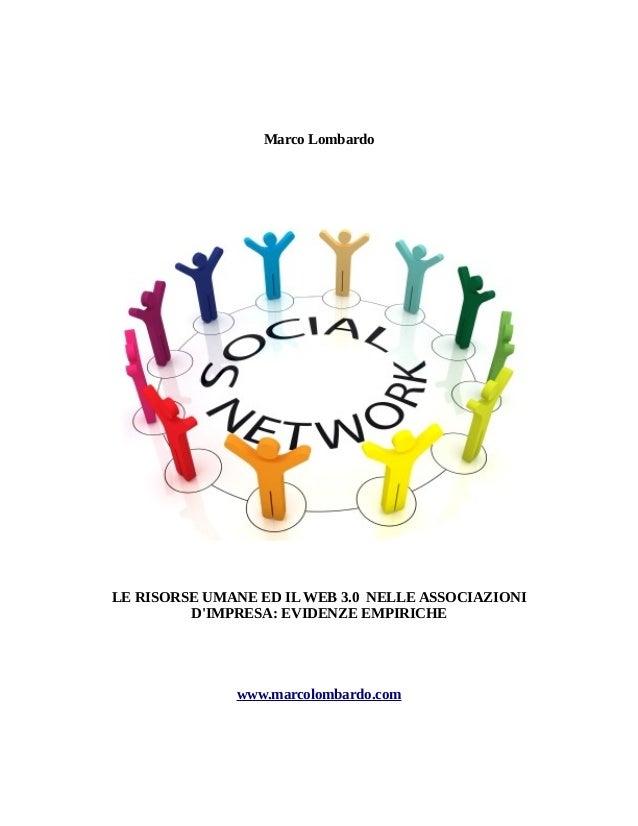 Le risorse umane ed il WEB 3.0 nelle associazioni d'impresa