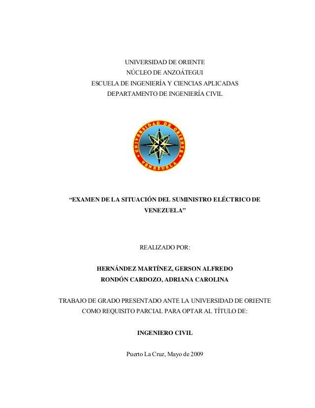 UNIVERSIDAD DE ORIENTE NÚCLEO DE ANZOÁTEGUI ESCUELA DE INGENIERÍA Y CIENCIAS APLICADAS DEPARTAMENTO DE INGENIERÍA CIVIL PÁ...