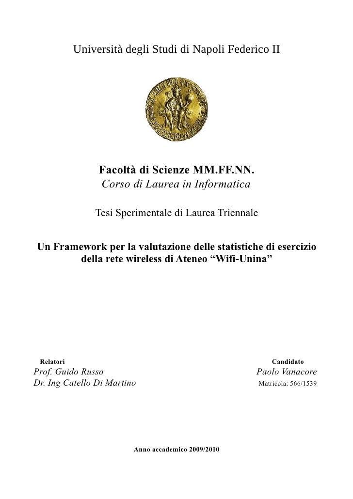 Università degli Studi di Napoli Federico II                 Facoltà di Scienze MM.FF.NN.                 Corso di Laurea ...
