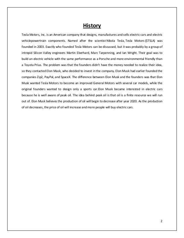 tesla motors external analyis essay