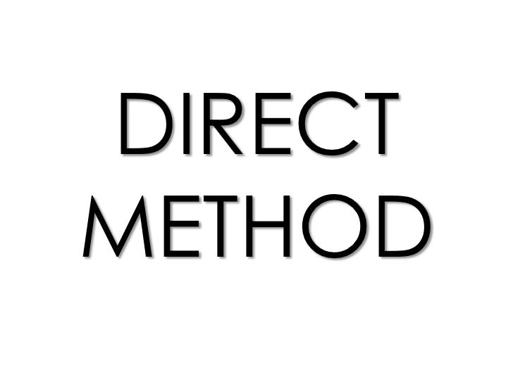 DIRECTMETHOD