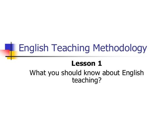 Tesol lesson 1