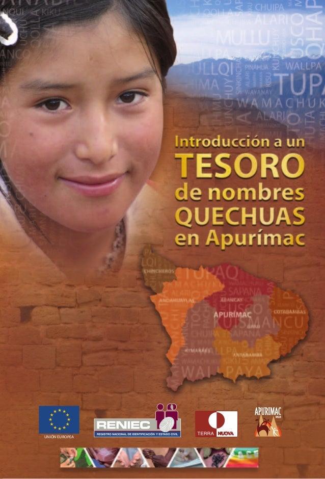 Tesoro de Nombres Quechuas