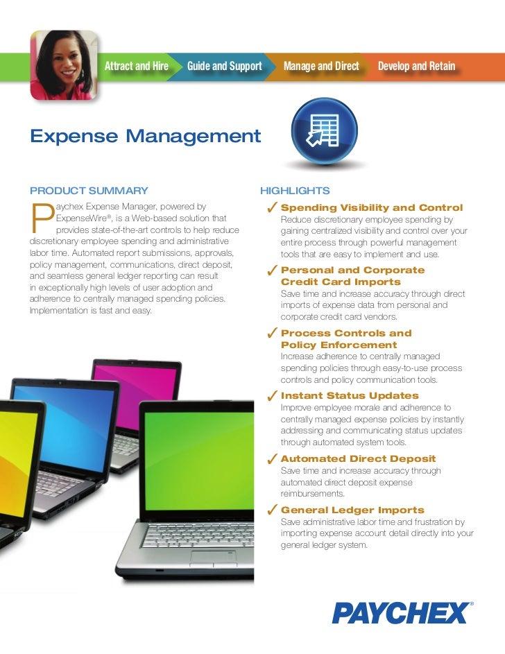 AttractandHire     GuideandSupport     ManageandDirect         DevelopandRetainExpense ManagementProduct SuMMar...