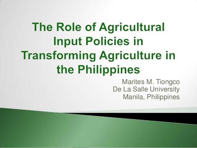 Marites M. Tiongco De La Salle University Manila, Philippines
