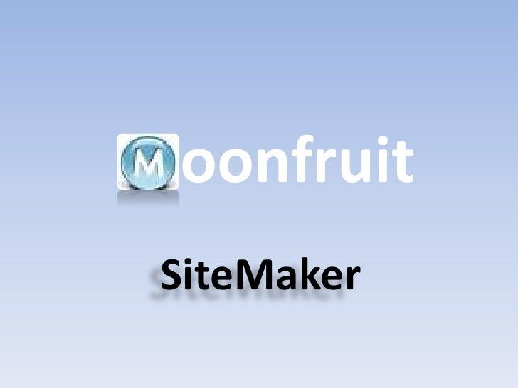 oonfruit SiteMaker