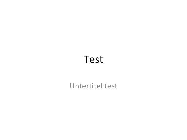 Test Untertitel test