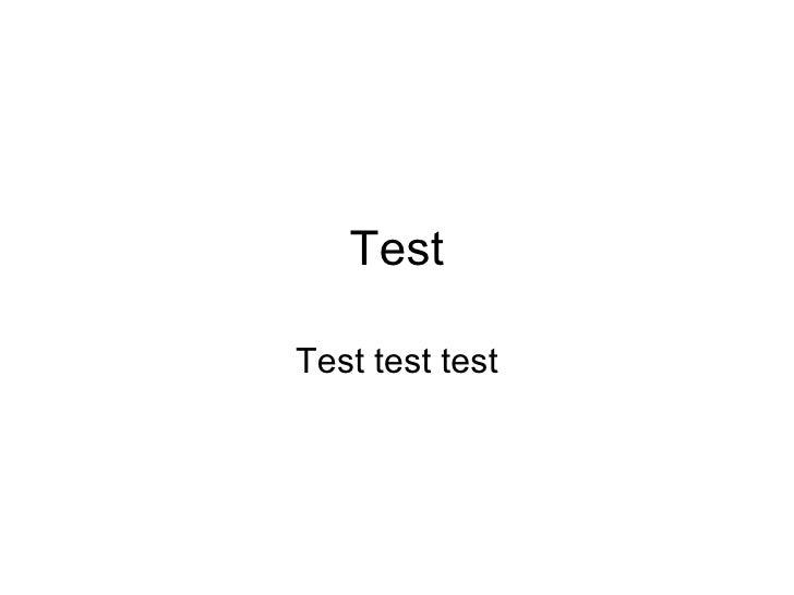 Test Test test test