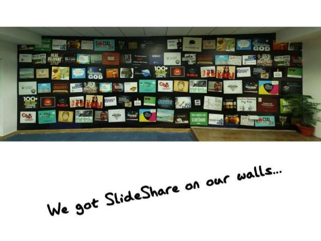 We got SlideShare on our Walls!