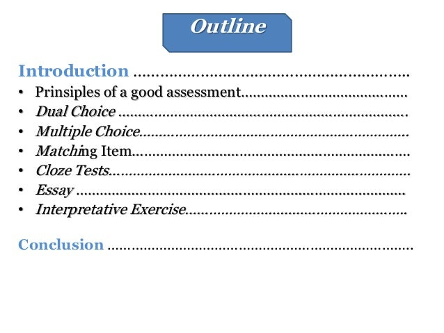 essay outlining exercise