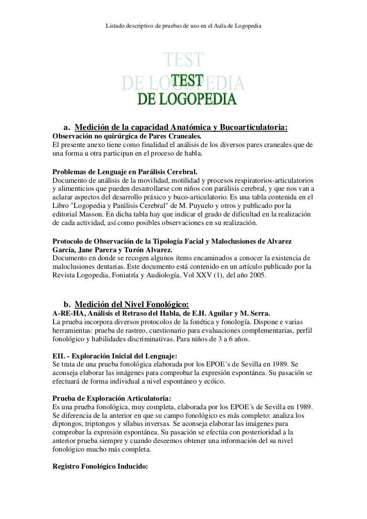 test logopedia
