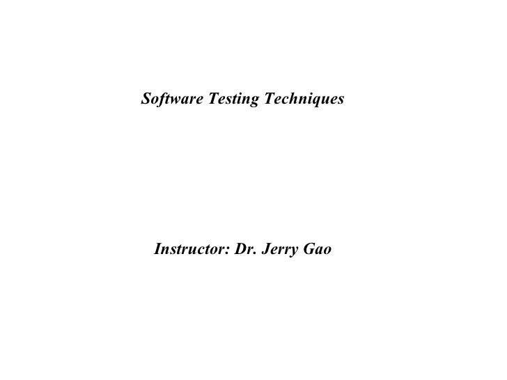 Test Techniques