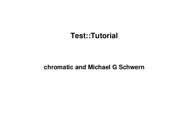 Test tutorial