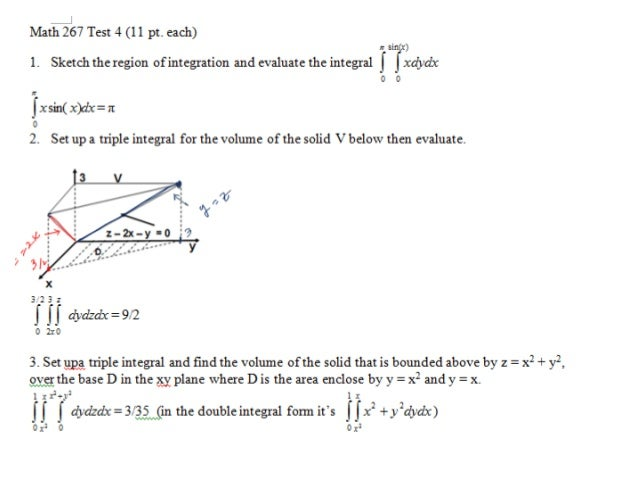 Test4 problems solutions