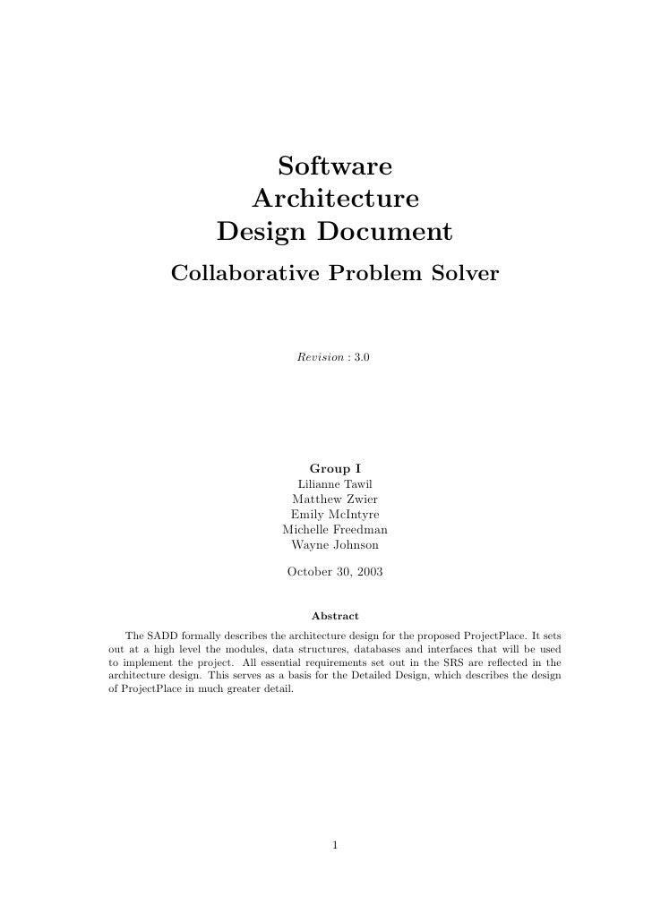 Software                         Architecture                       Design Document             Collaborative Problem Solv...