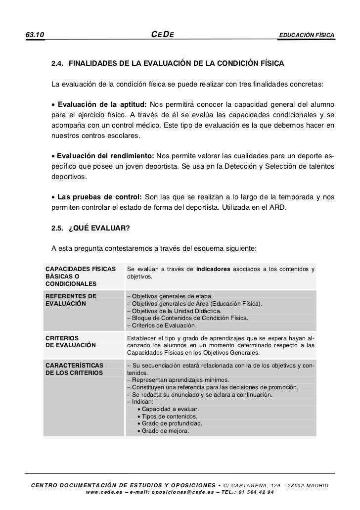 Aptitud Fisica Educacion Fisica 63.10 Cede Educación Física