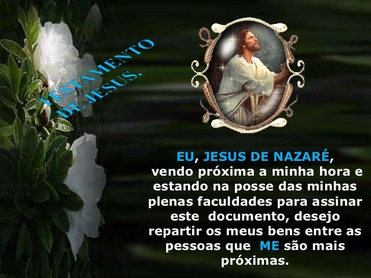 TESTAMENTO DE JESUS CRISTO
