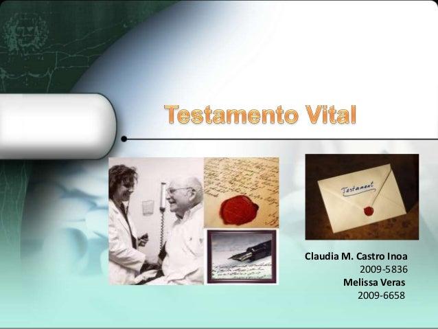 Claudia M. Castro Inoa            2009-5836        Melissa Veras           2009-6658