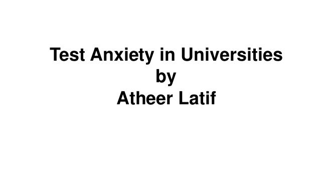Test anxiety in university
