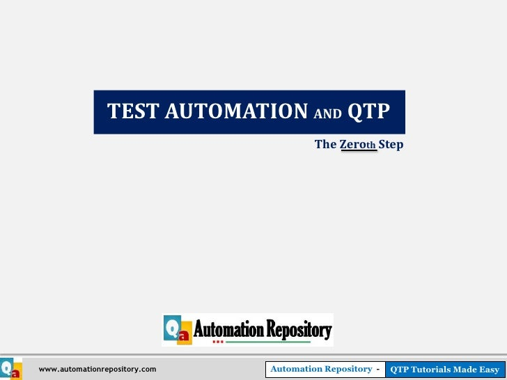 Test Automation and QTP - The Basics