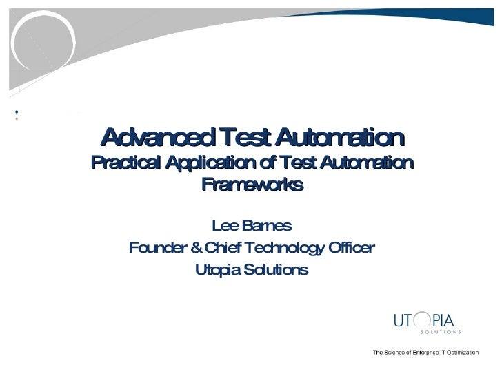 Test Automation Frameworks   Final