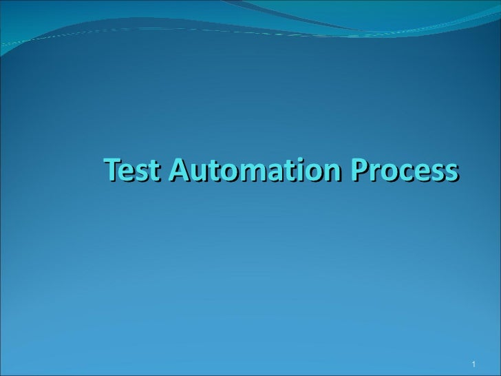 Test automation process _ QTP