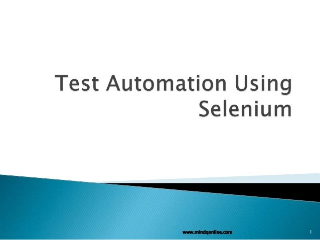 Test automation using selenium