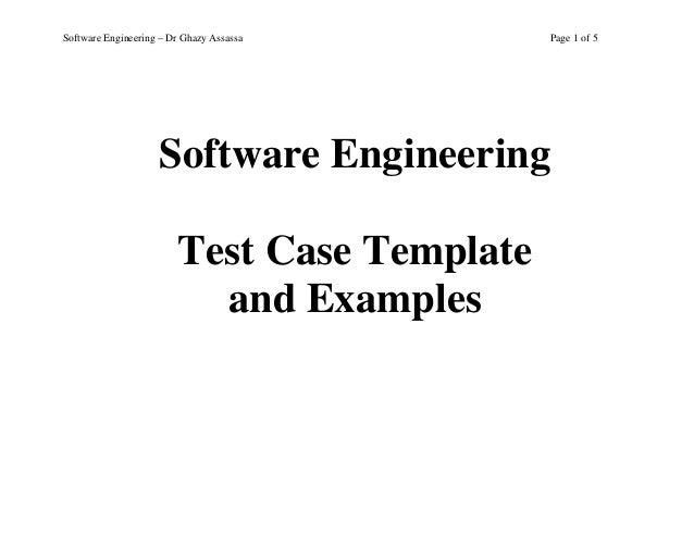 Test case template