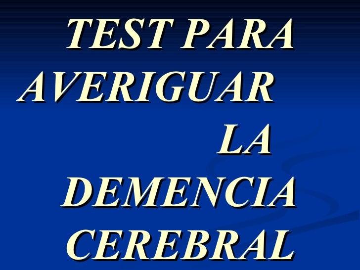 Test cerebral