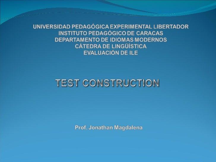 Test Construction1