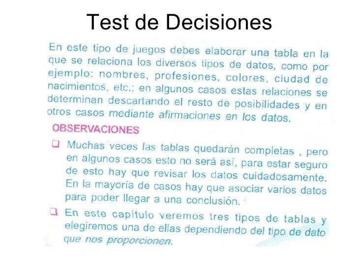 Test de Decisiones