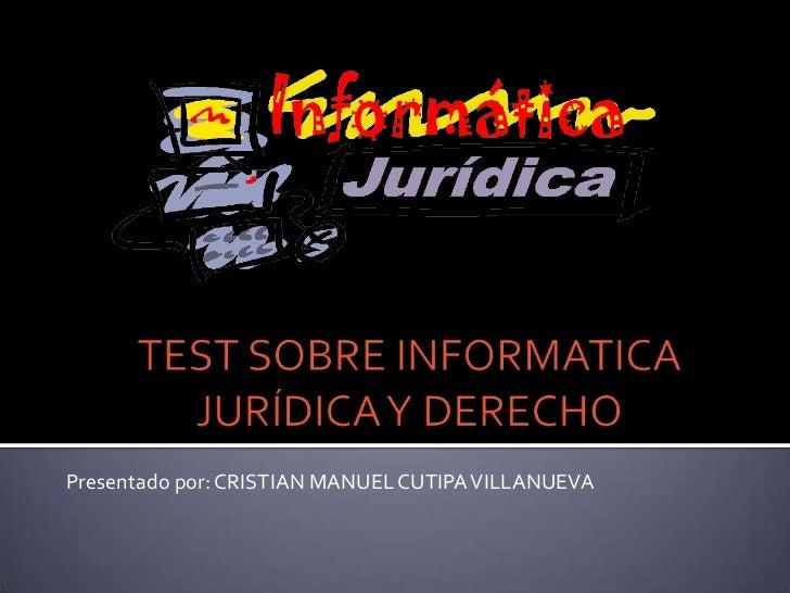 Presentado por: CRISTIAN MANUEL CUTIPA VILLANUEVA