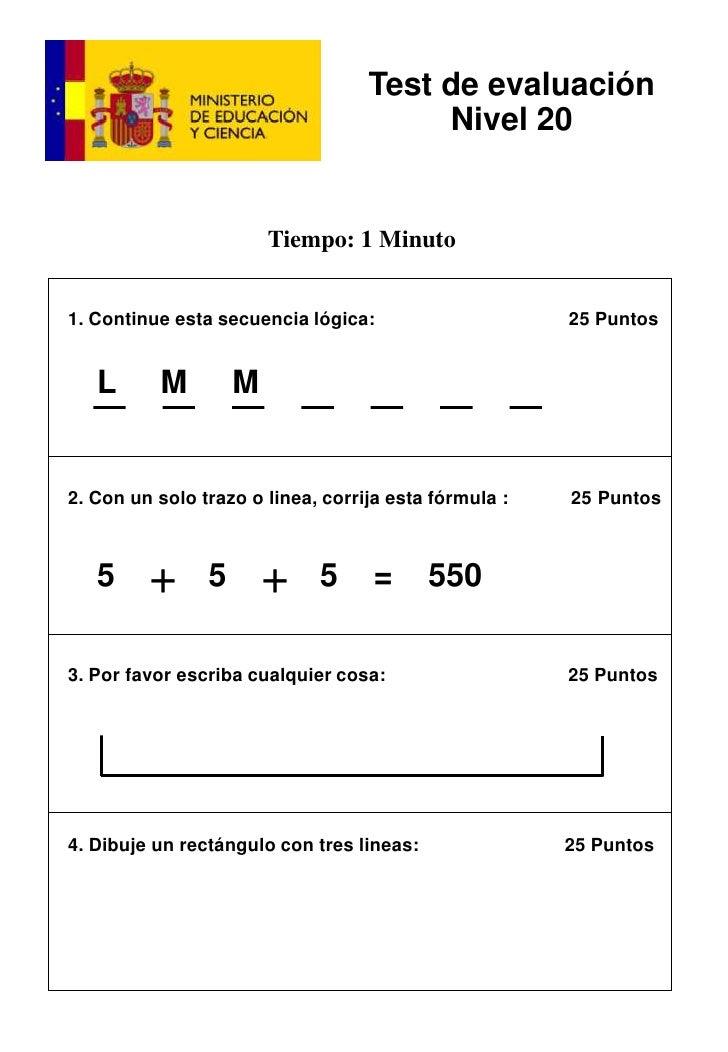 1. Continue esta secuencia lógica:                       25 Puntos <br />L     M     M     <br />2. Con un solo trazo o l...