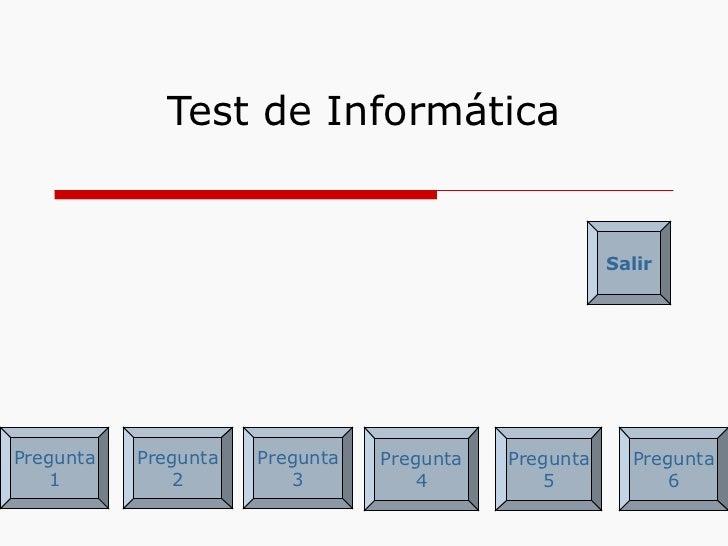 Test de informática