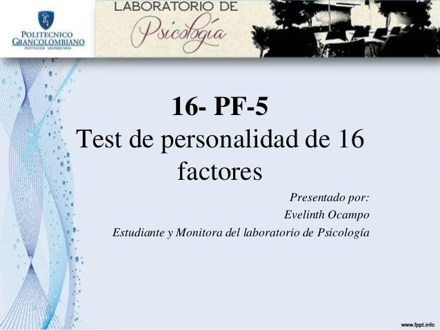 Test de personalidad de 16 factores