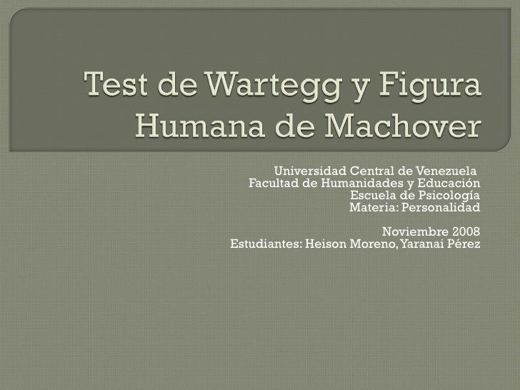 Universidad Central de Venezuela  Facultad de Humanidades y Educación Escuela de Psicología Materia: Personalidad Noviembr...