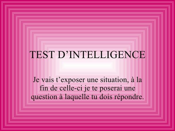 Test D Intelligence