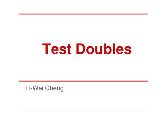 Test DoublesLi-Wei Cheng