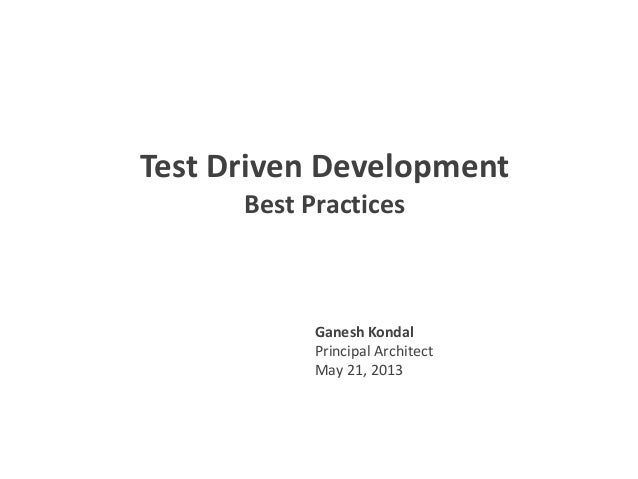 Test driven development v1.0