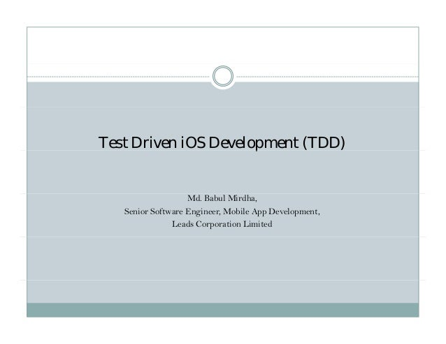 Test Driven iOS Development (TDD)