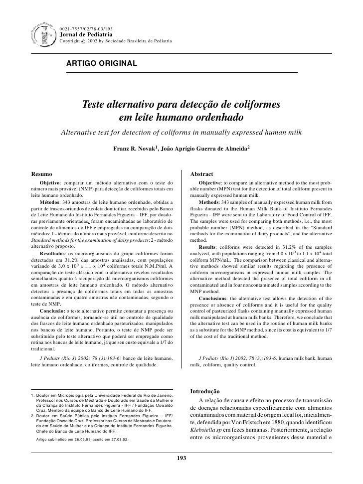 0021-7557/02/78-03/193                                                                Jornal de Pediatria - Vol. 78, Nº3, ...
