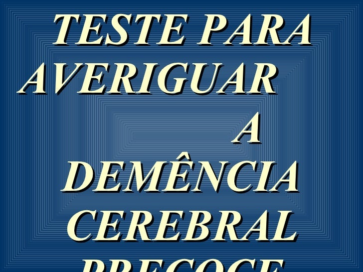 Teste Cerebral