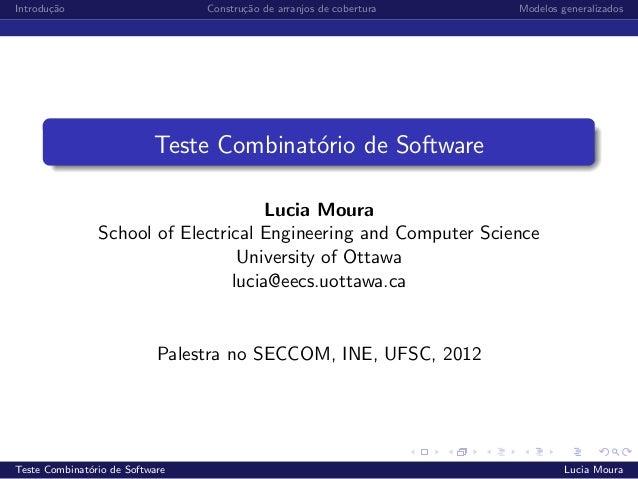 Teste combinatório de software