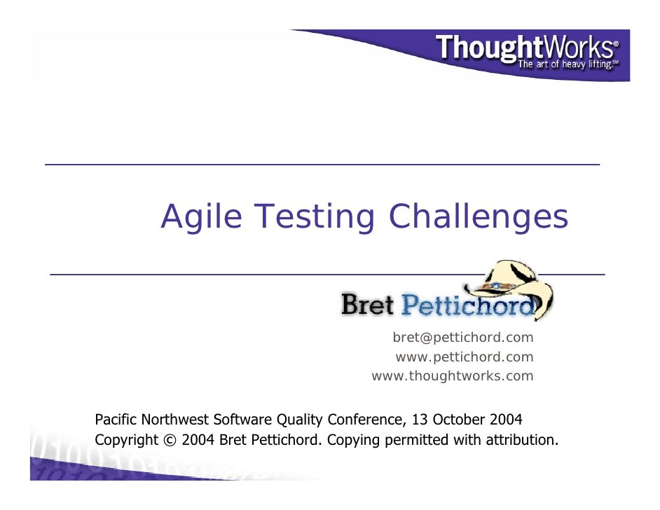 Tester Challenges in Agile ?