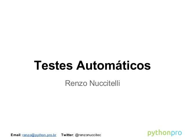 Testes automáticos