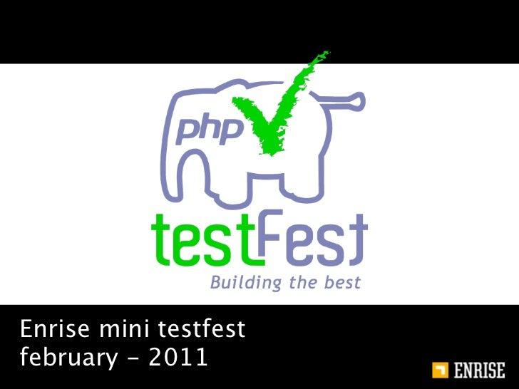 Enrise testfest