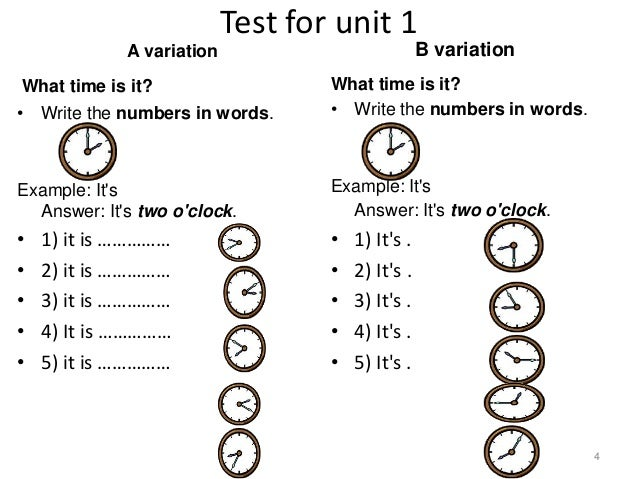 Test for unit 1