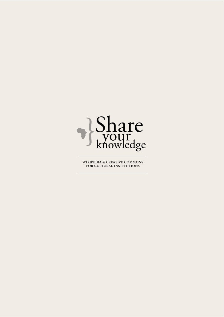 Share Your Knowledge - Presentation 2011